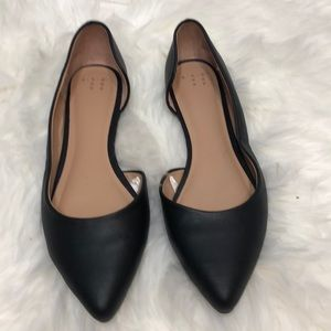A new day black open side flats size 9